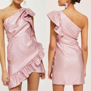 🆕Topshop One Shoulder Textured Mini Dress